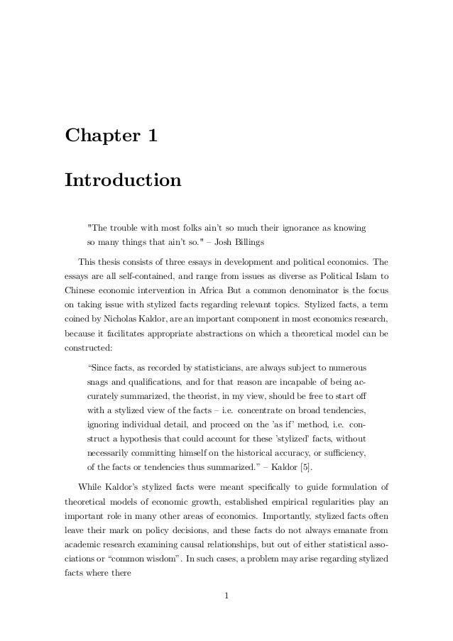 Example of thesis chapter 1 to 3