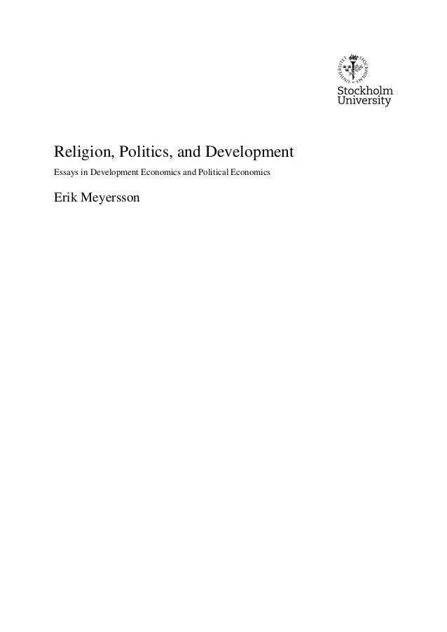religion politics and development essays in development economics a  religion politics and development essays