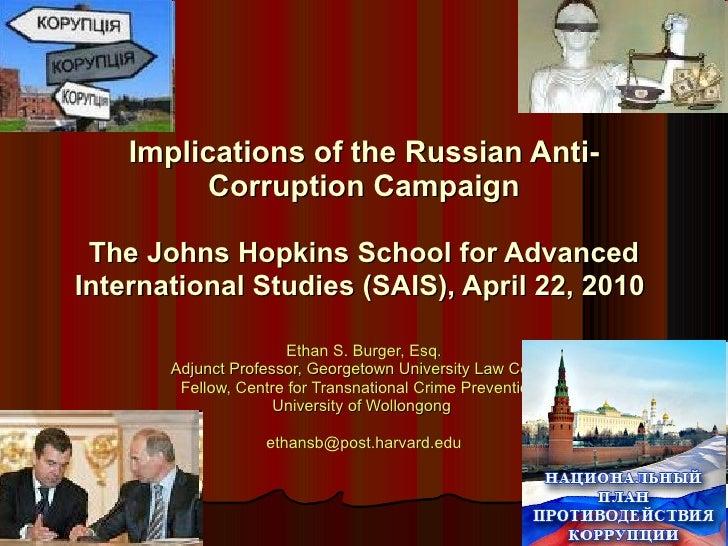 Ethan S. Burger, Esq. Adjunct Professor, Georgetown University Law Center Fellow, Centre for Transnational Crime Preventio...