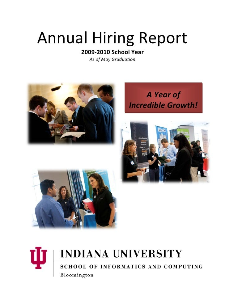 Annual Hiring Report      2009-2010 School Year        As of May Graduation                                  A Year of    ...