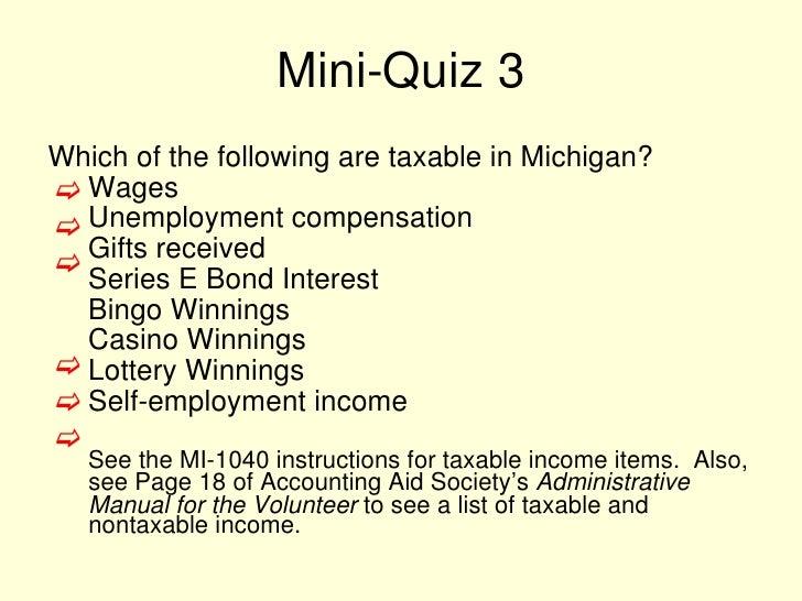 2010 Season State Tax Training Module