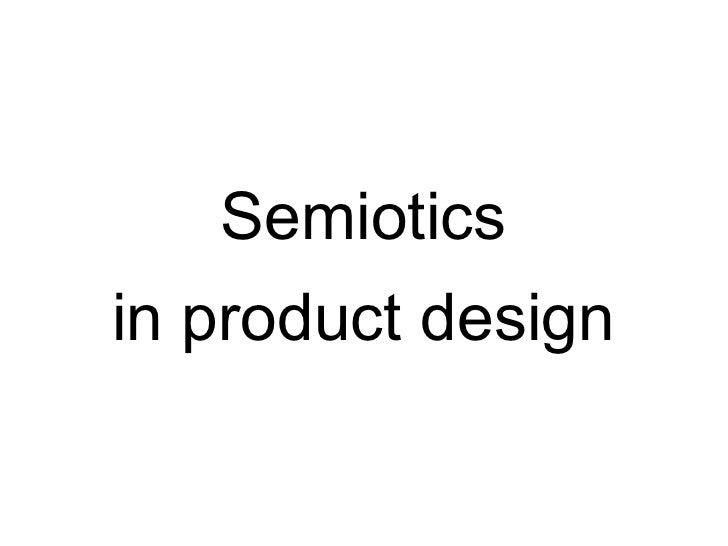 semiotics in design