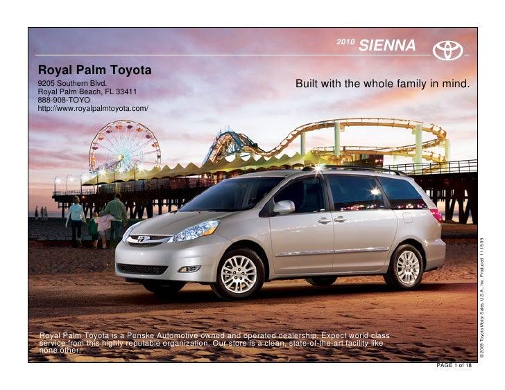 2010                                                                                             SIENNA Royal Palm Toyota ...