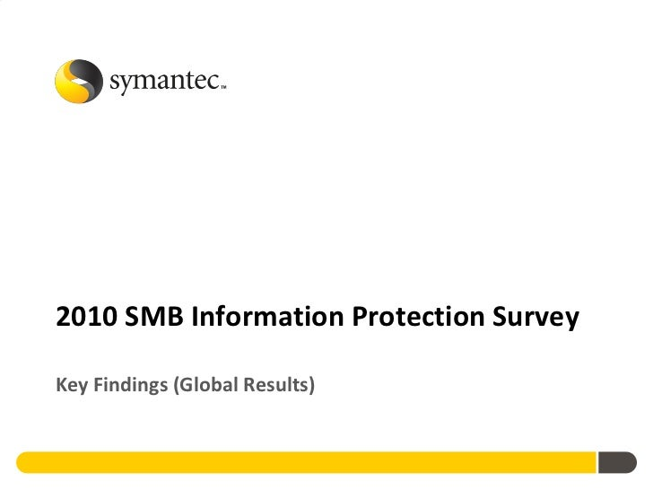 2010 SMB Information Protection Survey