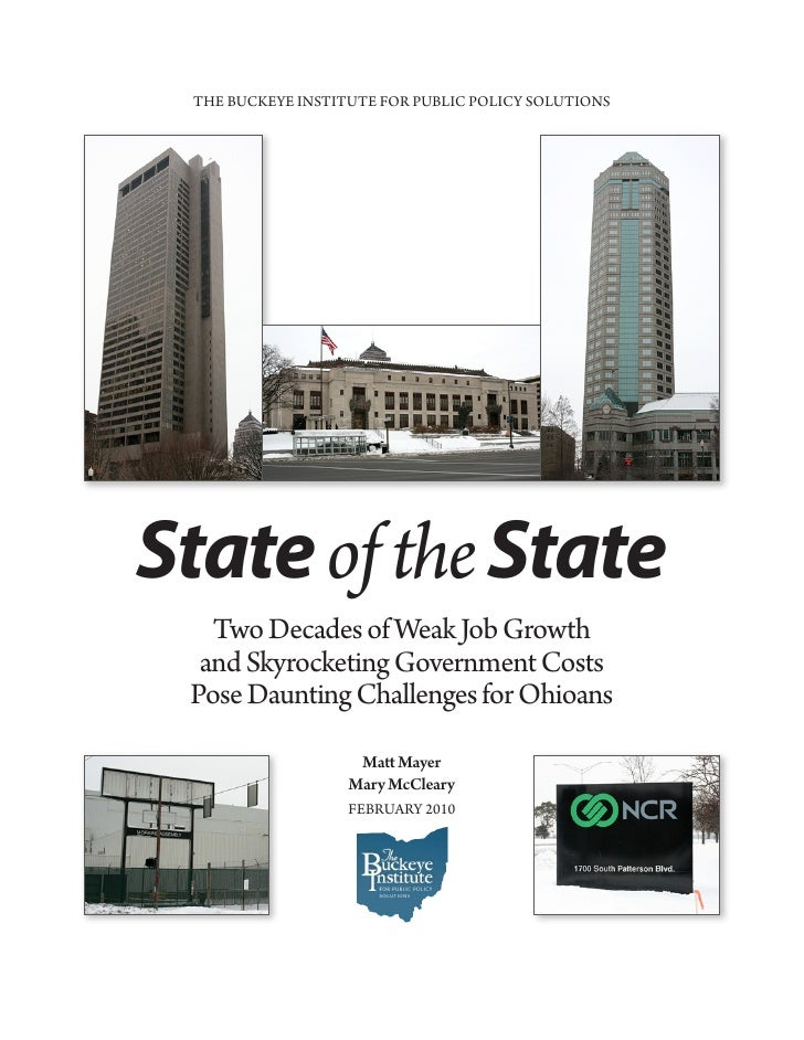 2010 Buckeye Institute: State of the State