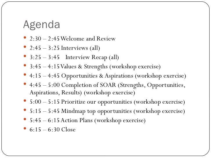 Agenda ...