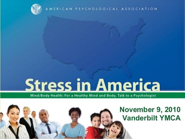 November 9, 2010 Vanderbilt YMCA
