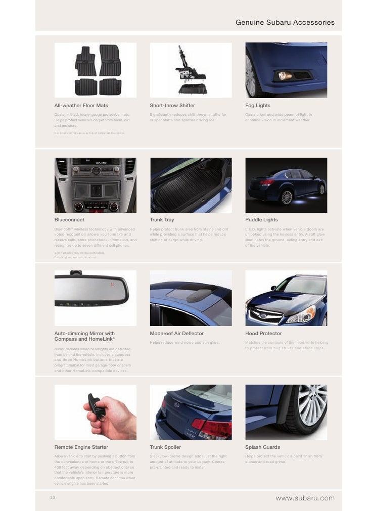 Genuine Subaru Accessories      All-weather Floor Mats                                  Short-throw Shifter               ...