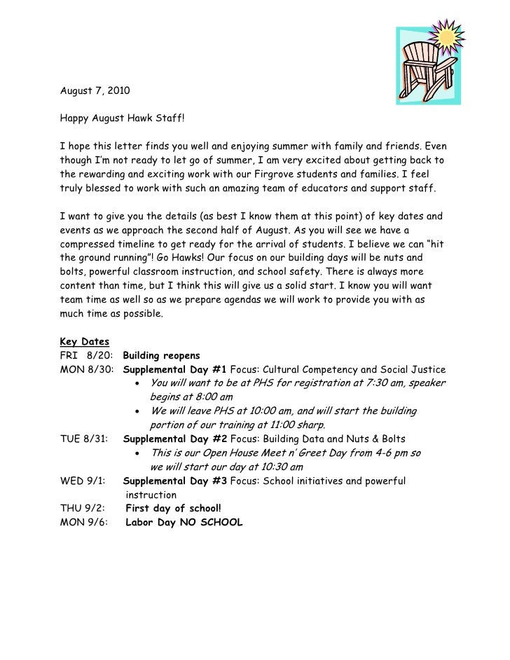 i hope this letter finds you well 2010 summer letter to staff char krause 22513