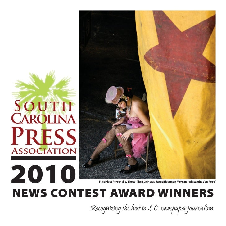 """2010 SCPA News Contest Winners • 12010         First Place Personality Photo: The Sun News, Janet Blackmon Morgan, """"Alissa..."""