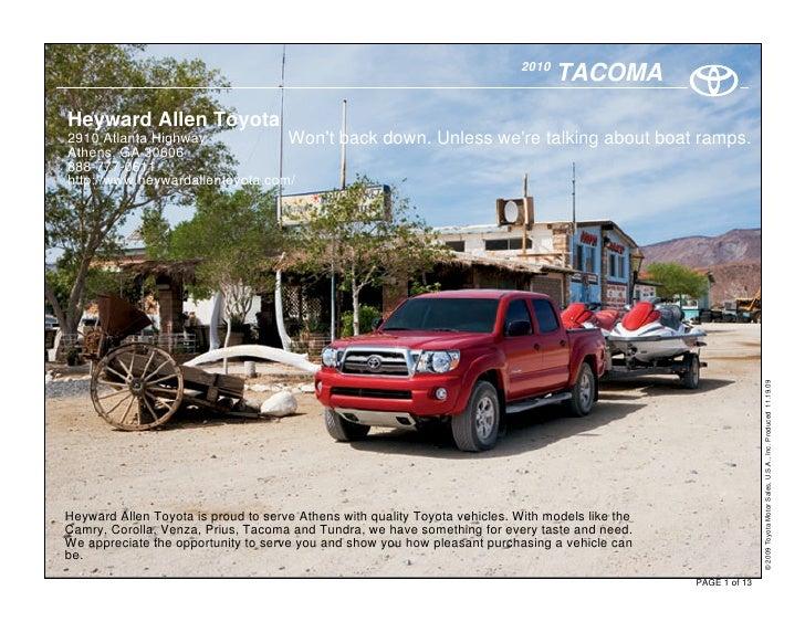2010                                                                                     TACOMA Heyward Allen Toyota 2910 ...