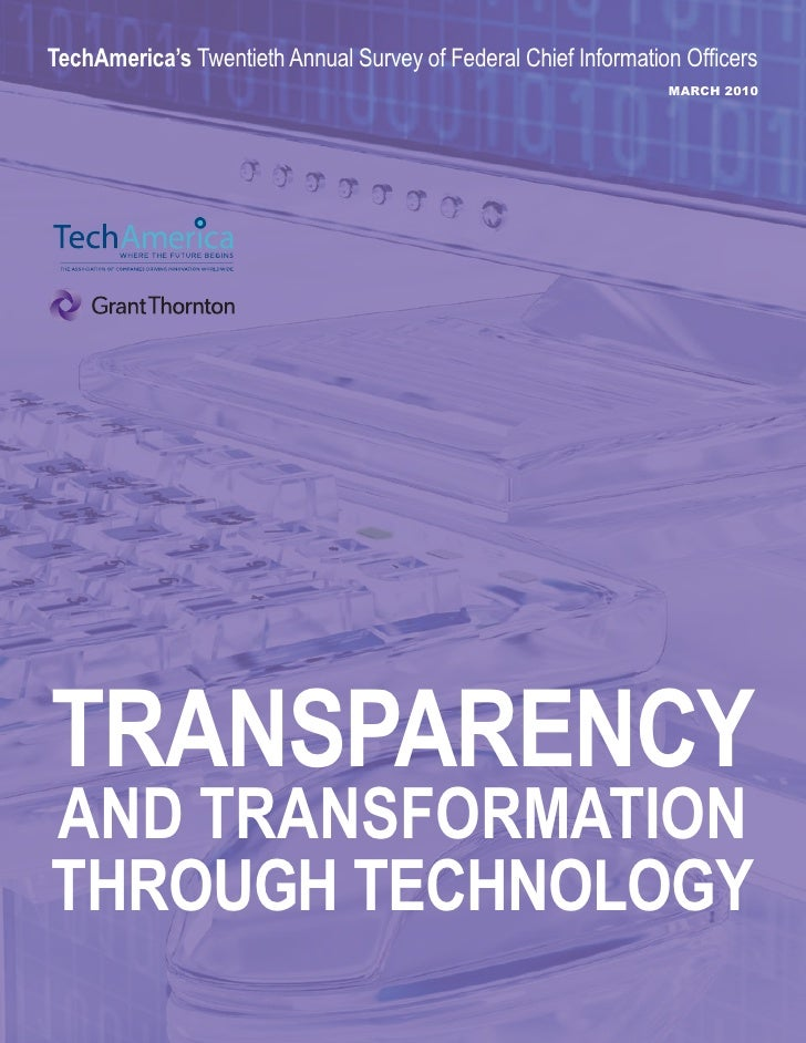TechAmerica's Twentieth Annual Survey of Federal Chief Information Officers                                               ...