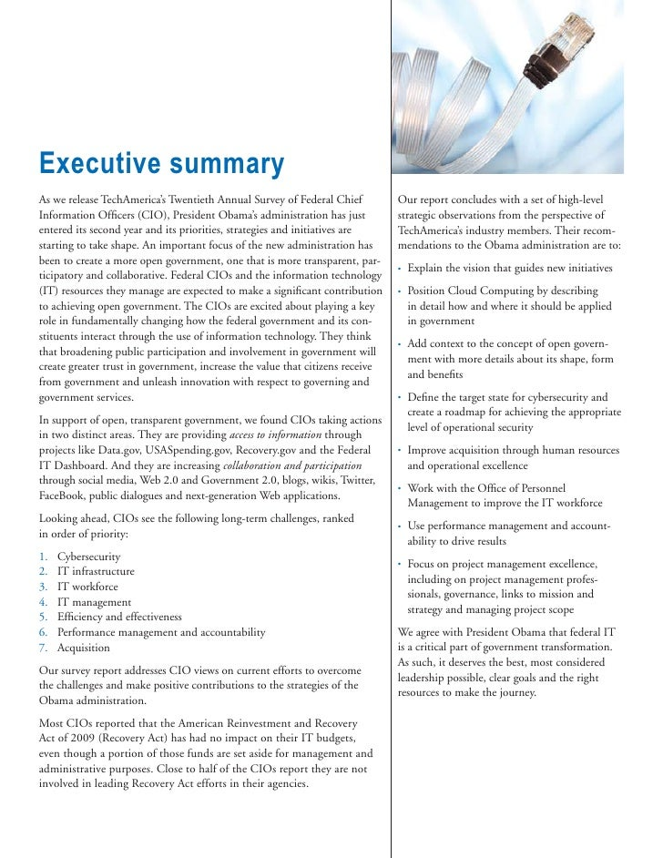 2010 Tech America Federal CIO Survey Final Report Slide 3