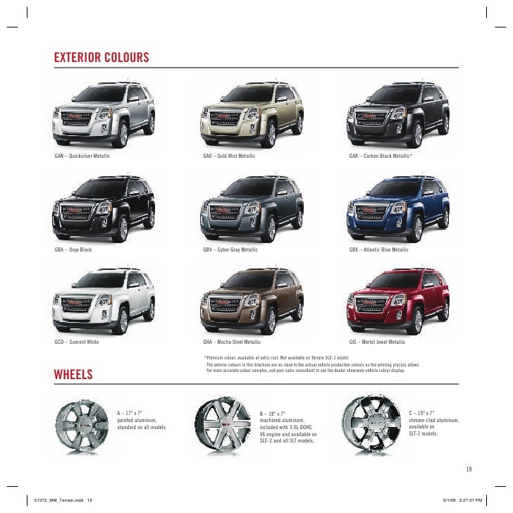 Lethbridge 2010 GMC Terrain Brochure