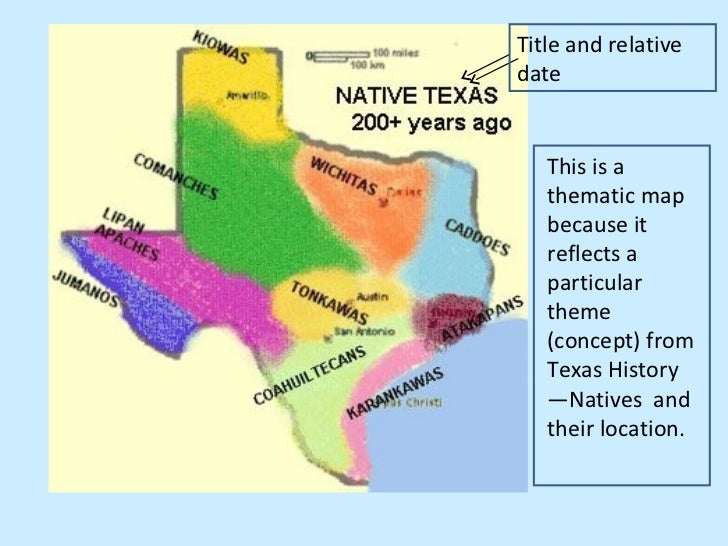 Thematic Map Of Texas
