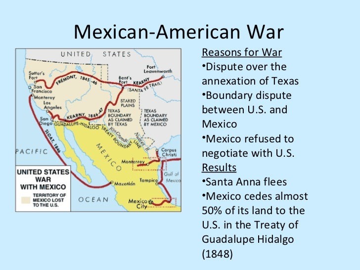 the two causes of the war between america and mexico Explore the causes of the mexican-american war and the effects it had on the growing nation relations between the us and mexico by the time james polk took office in 1845, relations with mexico .