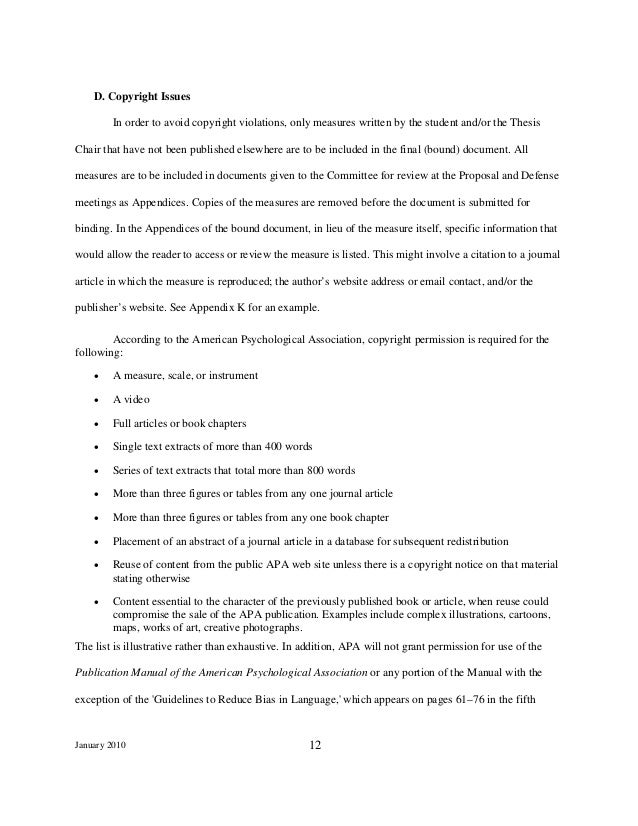 honours thesis psychology example
