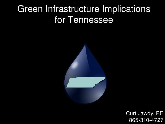 Green Infrastructure Implications for Tennessee Curt Jawdy, PE 865-310-4727