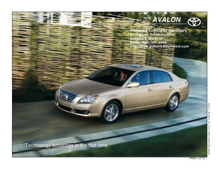 2010                                                      AVALON                                         Pohanka Toyota of...