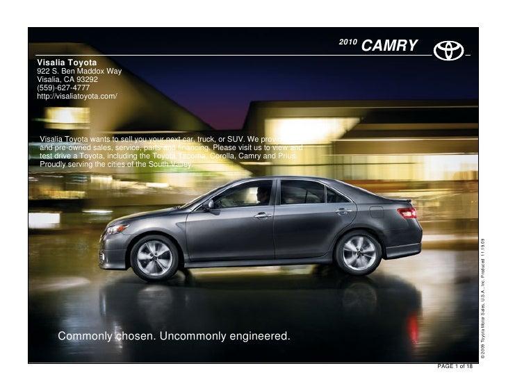 2010                                                                                         CAMRY Visalia Toyota 922 S. B...