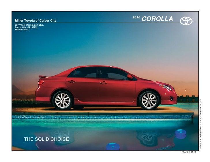 2010 Toyota Corolla Culver City