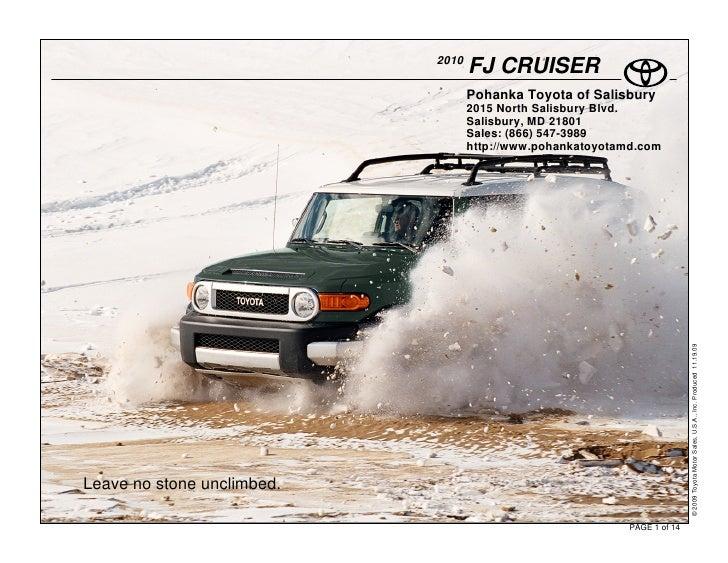 2010                                    FJ CRUISER                                    Pohanka Toyota of Salisbury         ...