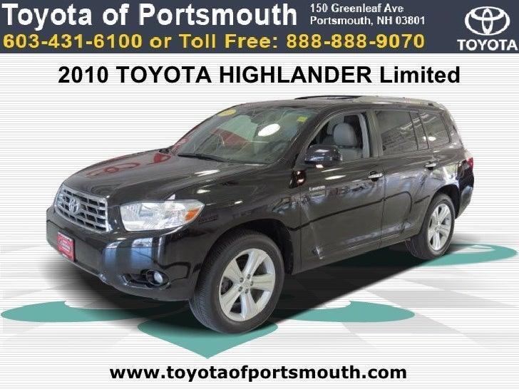 Toyota Highlander Limited Portsmouth NH Toyota Dealer - Toyota dealer nh