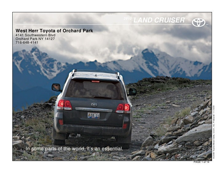 2010                                                              LAND CRUISER West Herr Toyota of Orchard Park 4141 South...