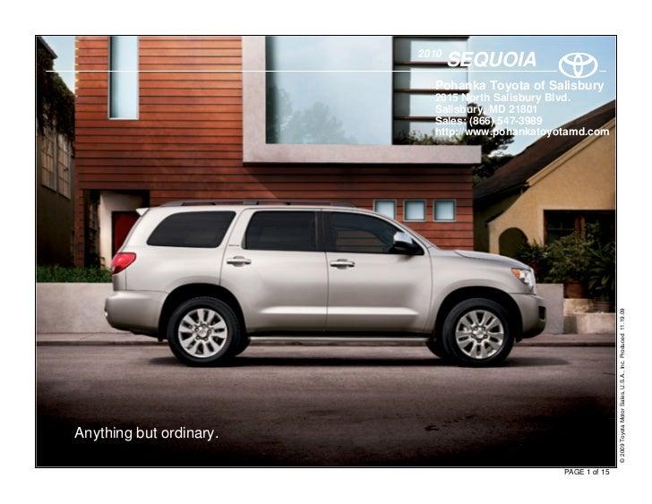 2010                                 SEQUOIA                            Pohanka Toyota of Salisbury                       ...