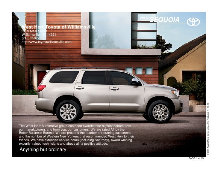 2010                                                                                      SEQUOIA  West Herr Toyota of Wil...