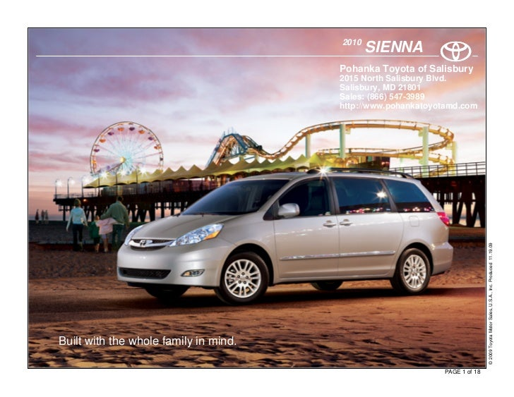 2010                                               SIENNA                                        Pohanka Toyota of Salisbu...