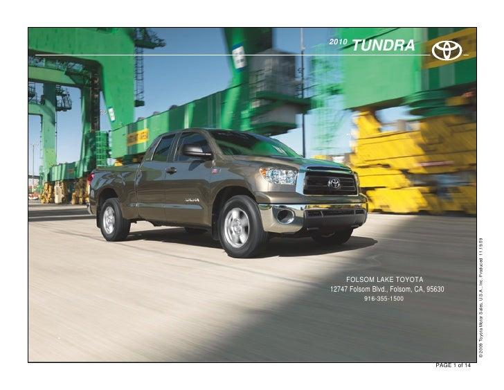 2010            TUNDRA                                                          © 2009 Toyota Motor Sales, U.S.A., Inc. Pr...