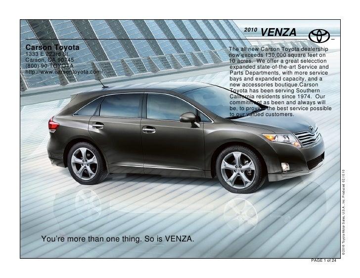 2010                                                             VENZA Carson Toyota                                   The...