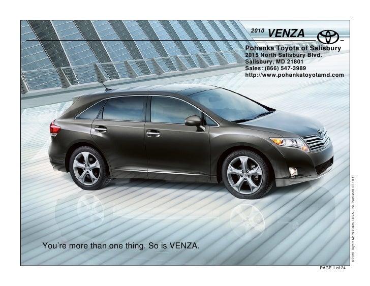 2010                                                    VENZA                                            Pohanka Toyota of...