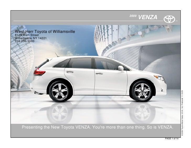 2009                                                               VENZA  West Herr Toyota of Williamsville 8129 Main Stre...