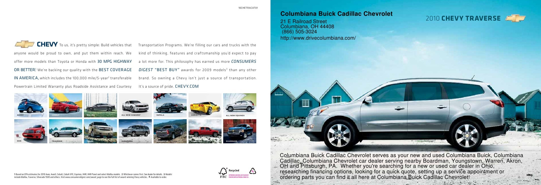 Captivating 2010 Columbiana Buick Cadillac Chevrolet Traverse Youngstown OH.  10CHETRACAT01 .
