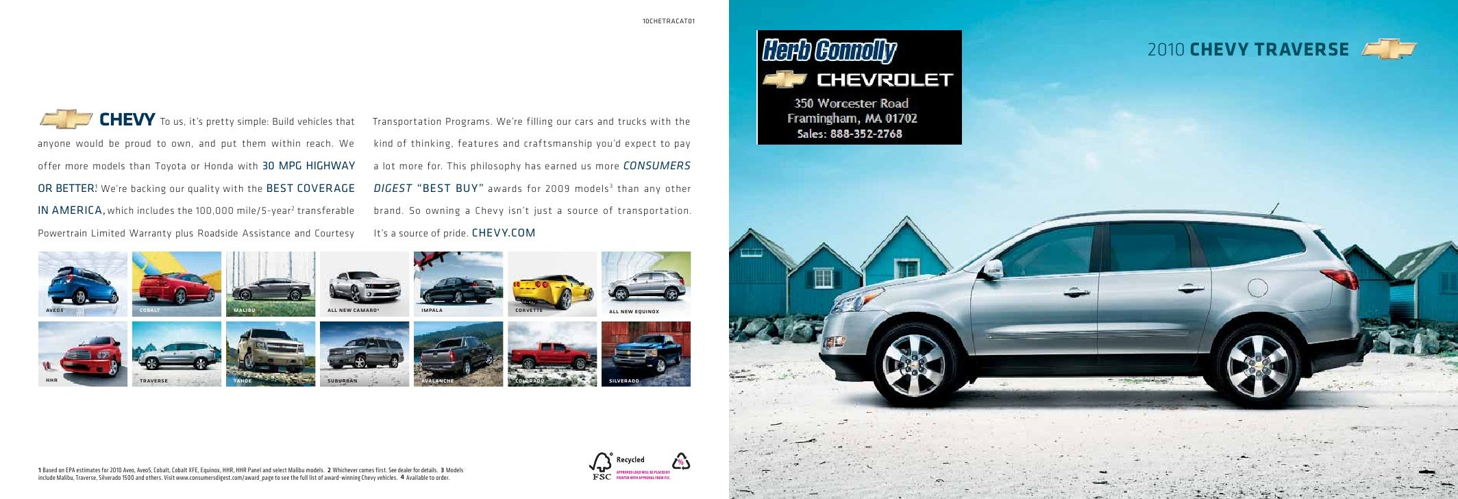 Herb Connolly Chevy >> 2010 Chevrolet Traverse Herb Connolly Boston Ma
