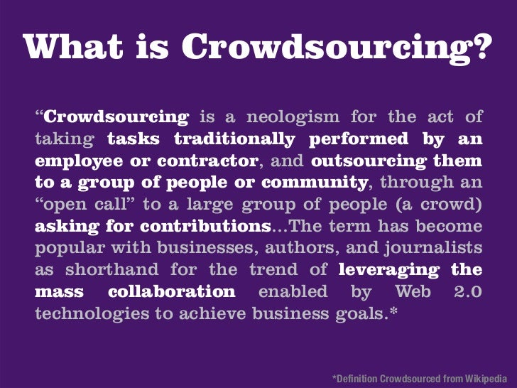 Crowdsourcing supportand marketing in returnfor low prices.