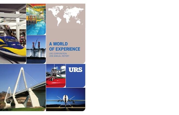 URS Corporation600 Montgomery Street, 26th FloorSan Francisco, CA 94111-2728www.urs.com                                   ...