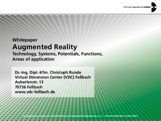 © Competence Centre for Virtual Reality and Cooperative Engineering w. V. – Virtual Dimension Center (VDC) Dr.-Ing. Dipl.-...