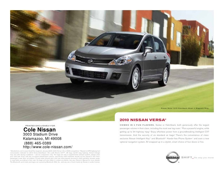 Awesome ... Cole Nissan Kalamazoo MI. Nissan Versa 1.8 S Hatchback Shown In  Magnetic Gray. ...