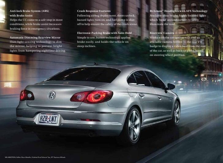 2010 Volkswagen Cc Brochure Greenville Columbia Sc
