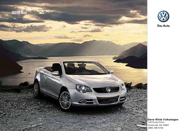 Steve White Vw >> 2010 Volkswagen Eos Brochure Greenville Columbia Sc