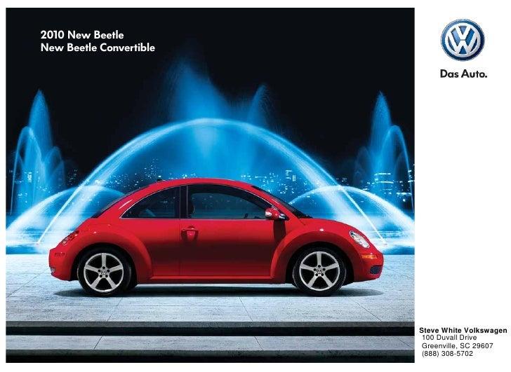 Steve White Vw >> 2010 Volkswagen New Beetle Brochure Greenville Columbia Sc