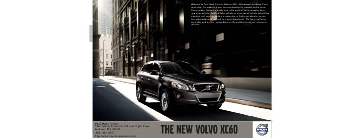 2010 volvo xc60 jackson for Paul moak honda jackson ms