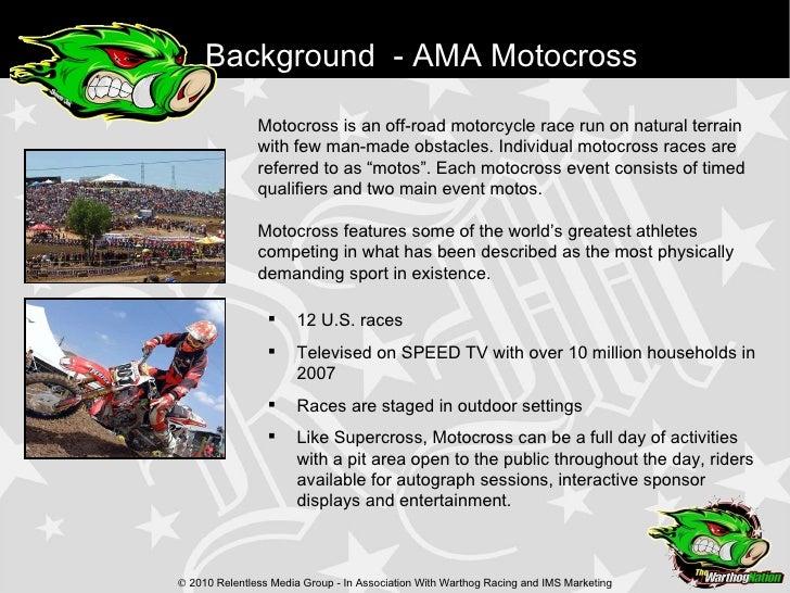 motocross sponsorship resume
