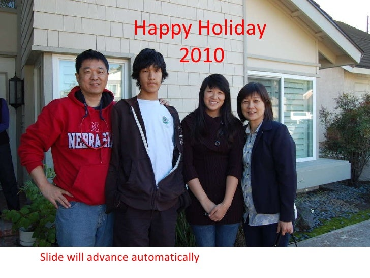 Happy Holiday 2010 Slide will advance automatically