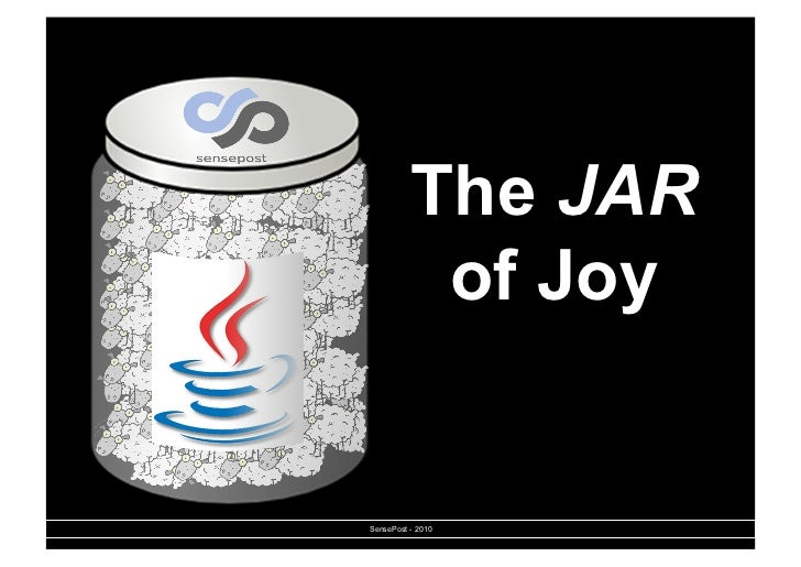 The JAR           of JoySensePost - 2010