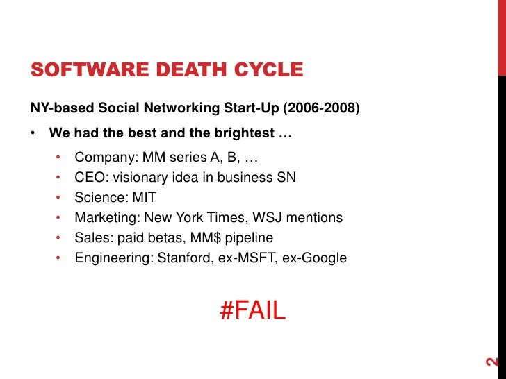 Breaking the Software Death Cycle with Domain-Driven Design Slide 2