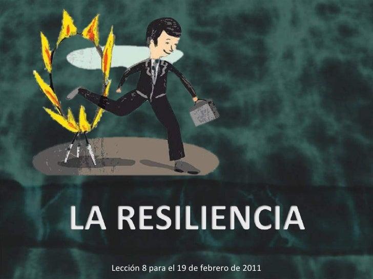 Lección 8 para el 19 de febrero de 2011